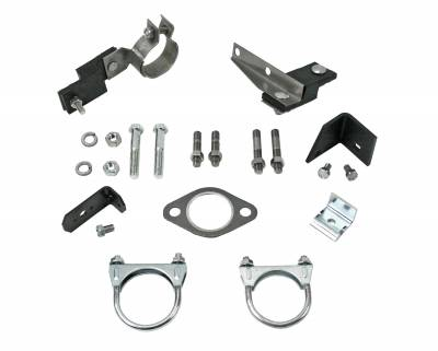 1956 Chevrolet Full Size 8 cyl  Single Exhaust Clamp And Hanger Kit