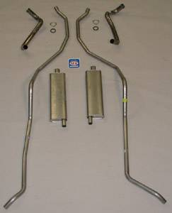 "Shafer's Classic - 1959 Chevrolet Full Size Exhaust System 348 hi-perf. with 2-1/2"" dual exhaust"