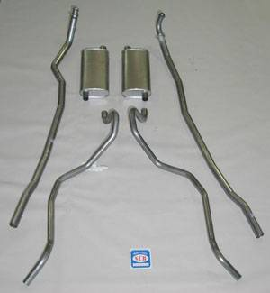 Shafer's Classic - 1965 - 1966 Chevrolet Exhaust System 8 cyl. 283 and 327 Dual Exhaust, Small Block