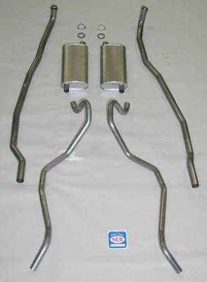 "Shafer's Classic - 1965 - 1966 Chevrolet Exhaust System 8 cyl. 396 and 427 Dual Exhaust with 2-1/2"" Exhaust Pipes"