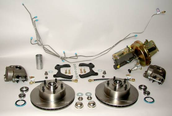 Shafer's Classic - 1955 Chevrolet Full Size Front Disc Brake Conversion Kit, Power