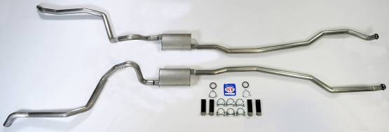 "Shafer's Classic - 1965-1966 Full Size Chevrolet Exhaust System 2-1/2"" Dual Turbo"