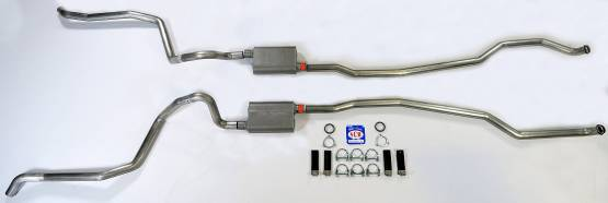 """Shafer's Classic - 1965-1966 Full Size Chevrolet Exhaust System 2-1/2"""" Dual Turbo"""