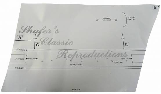 Shafer's Classic - 1965 - 1966 Ford Mustang GT Stencil Kit
