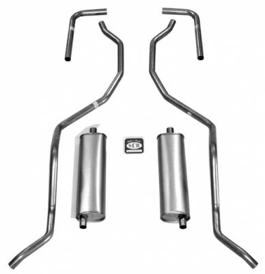 "Shafer's Classic - 1960 - 1964 Chevrolet 2"" Dual Exhaust System"