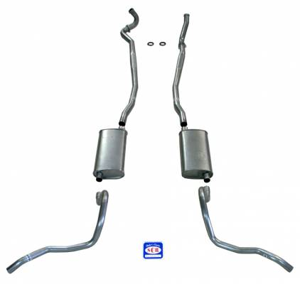 Shafer's Classic - 1967-69 Full Size Chevrolet Exhaust System for Station Wagon with Big Block with Stock Cast Iron Manifolds