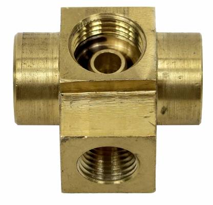 Shafer's Classic - 1958-1961 Chevrolet Full Size Tri Power 4 Way Brass Adapter