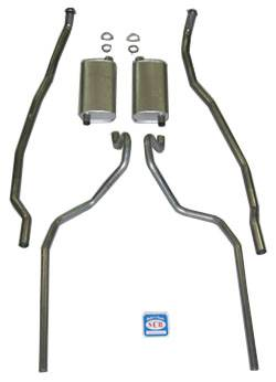 Shafer's Classic - 1965-66 Chevrolet Full Size Exhaust System 8 cyl. 396 and 427 dual