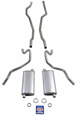 """Shafer's Classic - 1965-66 Chevrolet Exhaust System 8 cyl. 396 and 427 Dual Exhaust with 2-1/2"""" Exhaust Pipes"""