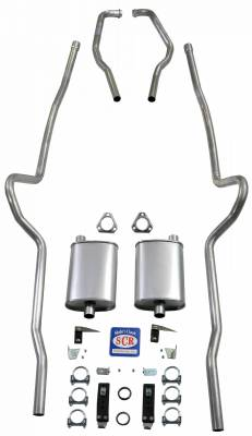 "Shafer's Classic - 1955-1957 Chevrolet Full Size 2"" Dual Turbo Exhaust System"