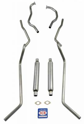 "Shafer's Classic - 1955 Chevrolet Full Size 2"" Dual 8 cyl. SW Exhaust System"