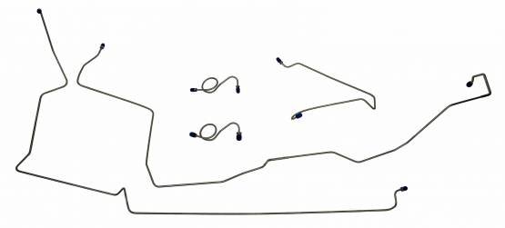 Shafer's Classic - 1987-1993 Ford Mustang Front Brake Line Set