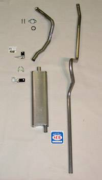 Exhaust - Exhaust Systems - Complete - Shafer's Classic - 1955 Chevrolet Full Size Hardtop 6 cyl. Exhaust System