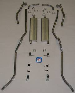 Exhaust - Exhaust Systems - Complete - Shafer's Classic - 1957 Chevrolet Full Size Exhaust System