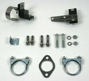 Exhaust - Clamp and Hanger Kits - Shafer's Classic - 1955 Chevrolet Full Size 8 cyl. Single Exhaust Clamp And Hanger Kit