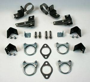 Exhaust - Clamp and Hanger Kits - Shafer's Classic - 1955 Chevrolet Full Size 8 cyl. All Dual Exhaust Clamp And Hanger Kit