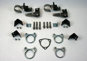 Exhaust - Clamp and Hanger Kits - Shafer's Classic - 1955 Chevrolet Full Size 8 cyl. Dual with 57 Manifolds without Crossover Pipes Clamp And Hanger Kit