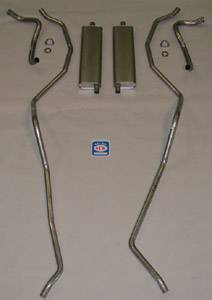 Exhaust - Exhaust Systems - Complete - Shafer's Classic - 1959 Chevrolet Full Size Exhaust System 8 cyl. 283 dual