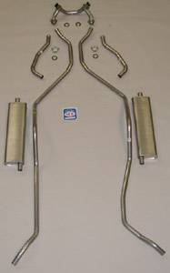 Exhaust - Exhaust Systems - Complete - Shafer's Classic - 1958 Chevrolet Full Size Exhaust System 8 cyl. 348 dual exhaust