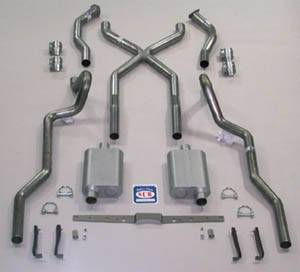Exhaust - Exhaust Systems - Complete - Shafer's Classic - 1955-57 Chevrolet Full Size X Exhaust System