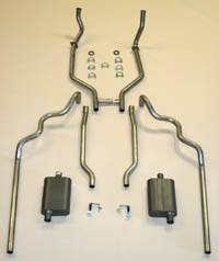 Shafer's Classic - 1963-64 Full Size Ford Exhaust System 352 and 390 CID Dual