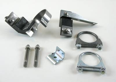 Exhaust - Clamp and Hanger Kits - Shafer's Classic - 1955 Chevrolet Full Size 6 cyl. Clamp And Hanger Kit
