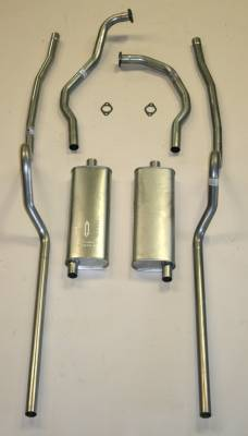 Exhaust - Exhaust Systems - Complete - Shafer's Classic - 1955 Chevrolet Full Size Hardtop 8 cyl. All Dual Exhaust System