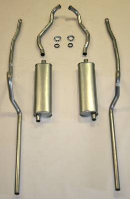 Exhaust - Exhaust Systems - Complete - Shafer's Classic - 1955 Chevrolet Full Size 8 cyl. Dual Exhaust System