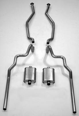 """Shafer's Classic - 1963-64 Full Size Ford 2-1/2"""" Turbo Exhaust System exc. Convertible and Station Wagon"""