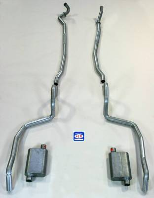 Exhaust - Exhaust Systems - Complete - Shafer's Classic - 1967-69 Full Size Chevrolet Exhaust System with Big Block and Stock Cast Iron Manifolds