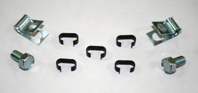 Engine - Gas Line Clips - Shafer's Classic - 1963 - 1964 Chevrolet Full Size Return Gas Line Clip Set