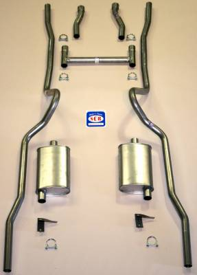 Exhaust - Exhaust Systems - Complete - Shafer's Classic - 1955 - 1957 Chevrolet Full Size  Exhaust System