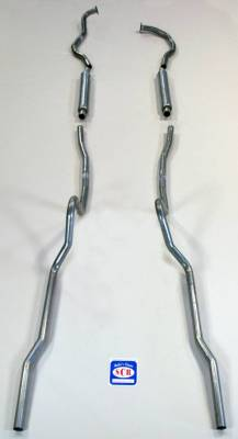 Exhaust - Exhaust Systems - Complete - Shafer's Classic - 1955-56 Chevrolet Full Size Exhaust System