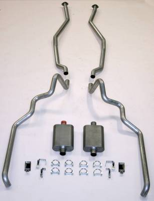 """1963-64 Full Size Ford2-1/2"""" Turbo Exhaust System exc. Convertible and Station Wagon"""