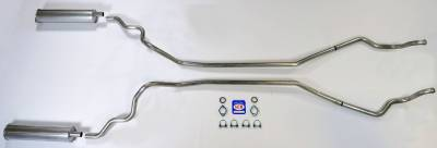 """Shafer's Classic - 1963-64 convertible Full Size Ford 2"""" Exhaust System"""