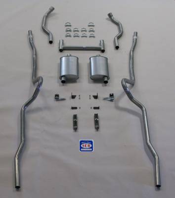 """Exhaust - Exhaust Systems - Complete - Shafer's Classic - 1955 - 1957 Chevrolet Full Size 2"""" Dual Turbo Exhaust System"""