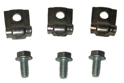 Engine - Gas Line Clips - Shafer's Classic - 1958 - 1964 Chevrolet Full Size  Long Gas Line Clip and Bolt Set