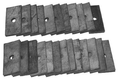 Suspension - Suspension, Body and Undercarriage - Shafer's Classic - 1958 - 1964 Chevrolet Full Size Pinch-Rail Pads